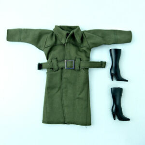 """Office Lady Fashion Coat For 11.5/"""" 1//6 Doll Clothes /& Shoes Trench Coat Outfits"""