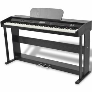 vidaXL-88-Key-Digital-Piano-with-Pedal-Black-Melamine-Board-Musical-Instrument