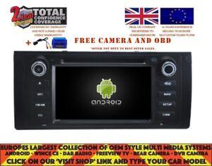 autoradio dvd gps navi android 9 0 bt dab wifi bmw 5 x5 series e53 e39 rd5765 ebay