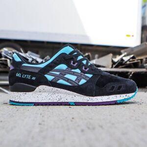 NEW-IN-BOX-MENS-Asics-Gel-Lyte-III-3-Black-Running-Sneakers-H642L-4390-SZ-4-11