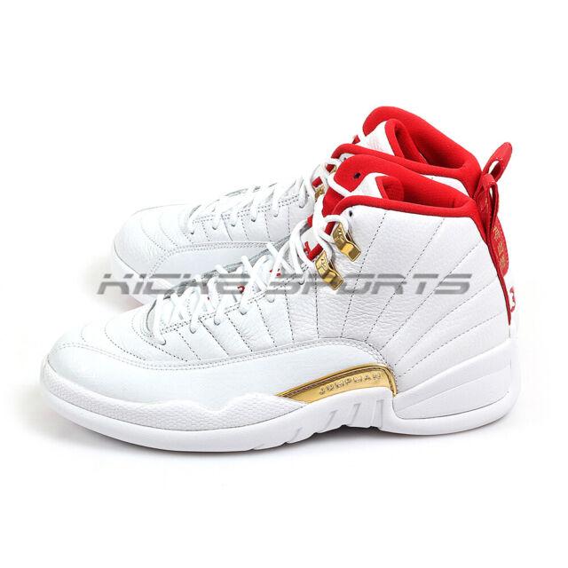 2019 Nike Air Jordan Retro 12 Xii Fiba White University Red 130690