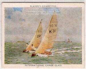 International-10-Square-Metre-Canoe-Class-Racing-Sailboat-1930s-Trade-Card