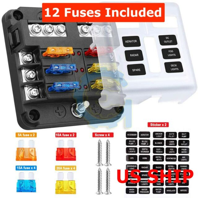 4 Way Circuit Automotive Middle-sized Blade Standard Fuse Box Block Holder  IN for sale online   eBayeBay