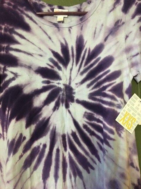 NWT LuLaRoe CARLY CARLY CARLY  XXS  PURPLE  Tie Dye  Tye Die  SUPER MAJOR UNICORN - HTF e9851f