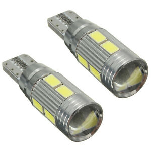 2-X-Lampade-T10-W5W-5630-10-LED-SMD-CANBUS-luce-bianca-6000K-Auto-5W-K6Q6