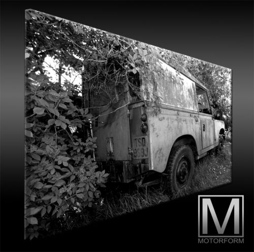 echte LEINWAND Bild Canvas ART Kunstdruck Leinwandbild Land Rover Defender 88