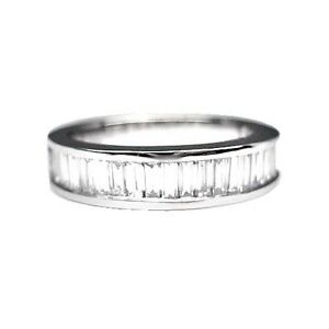 175 ct MENS BAGUETTE CUT DIAMOND WEDDING BAND PLATINUM eBay