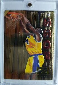 Rare-1997-98-Skybox-Z-Force-Super-Boss-Shaquille-O-039-Neal-14-Foil-Parallel-Shaq