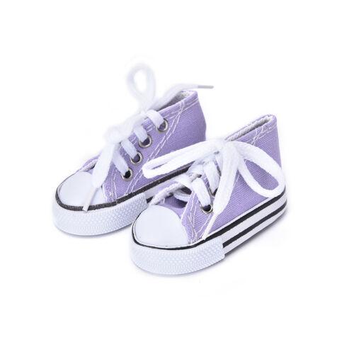 7,5 cm Segeltuchschuhe Puppe Spielzeug Mini Puppe Schuhe für 16 Zoll SharonZ hf