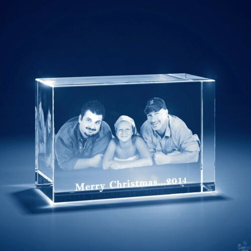 Mothers Day Laser Engraved 3D Crystal Personalized Gift Large Brick Shape