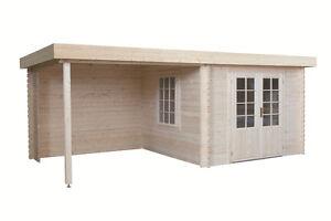 Gartenhaus Modell 3031 Z 566x290cm 40mm Haus Mit Flachdach Und