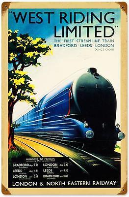 London /& North Western Train Travel Advert Vintage Retro Style Metal Sign