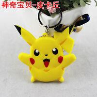 Key Couple Key Chain Ring Keyring Keyfob Love New Pokemon Pikachu Anime Keychain