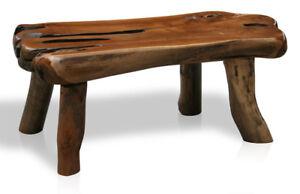 kmh teak wurzel couchtisch wohnzimmertisch beistelltisch coffeetable holz tisch ebay. Black Bedroom Furniture Sets. Home Design Ideas