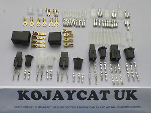 motorcycle connector wiring loom automotive harness auto terminal rh ebay com Automotive Wiring Harness Manufacturers Custom Automotive Wiring Harness Kits