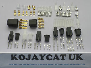 motorcycle connector wiring loom automotive harness auto terminal rh ebay com Vehicle Wiring Connectors Car Wiring Connectors
