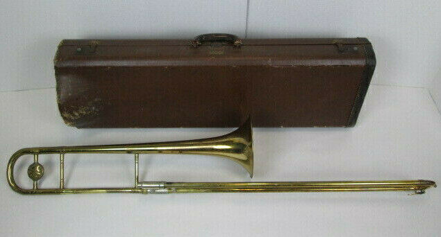 1954 Pan-American Elkhart Indiana Trombone Serial 27XXXX Music Instrument w Case