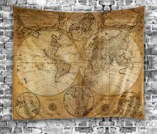 Fao schwarz big world map wall hanging fabric activity 52x 35 tall item 6 vintage antique look map world globe tapestry 60x80 hanging fabric wall art vintage antique look map world globe tapestry 60x80 hanging fabric wall gumiabroncs Images