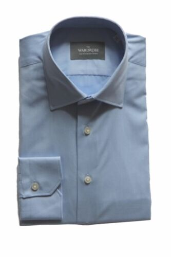 Collar Wardrobe Point Mason Cotton Fine Shirt Thomas Twill Blue The Dress Pf7wXX