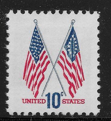 Nordamerika Usa Single 1973 Flaggen 10c Fvf Mnh Modische Muster Us Scott #1509