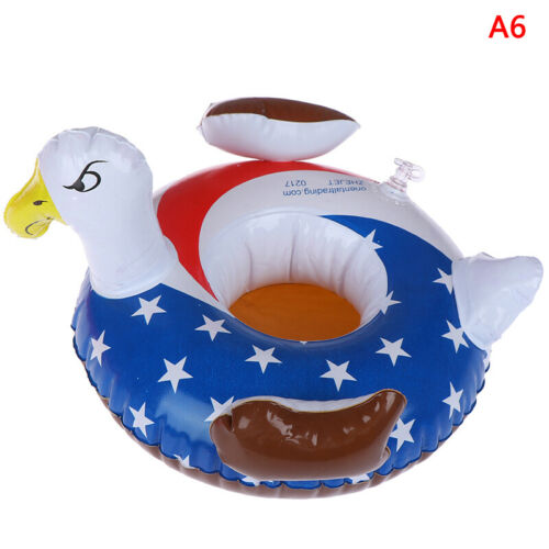 Inflatable mini floating drink can cup holder swimming pool beach party toys US