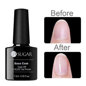 UR-SUGAR-7-5ml-Rubber-Base-Coat-Soak-Off-UV-Gellack-Nagel-Kunst-Gel-Varnish