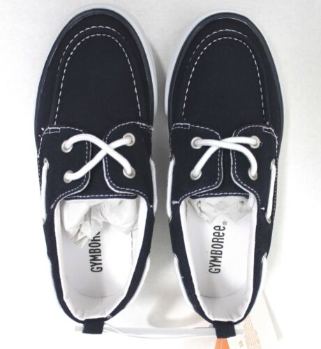 Gymboree Boys/' Navy Canvas Slip-On Boat Shoes Size 1 no box