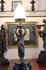 Original Art Nouveau Table Lamp Classical Nude Figure 1890-1910