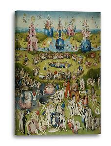 Lein Wand Bild Kunstdruck Hieronymus Bosch Der Garten Der Lüste
