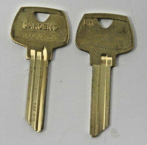 Pair Of Sargent LH Key Blanks 6 pin