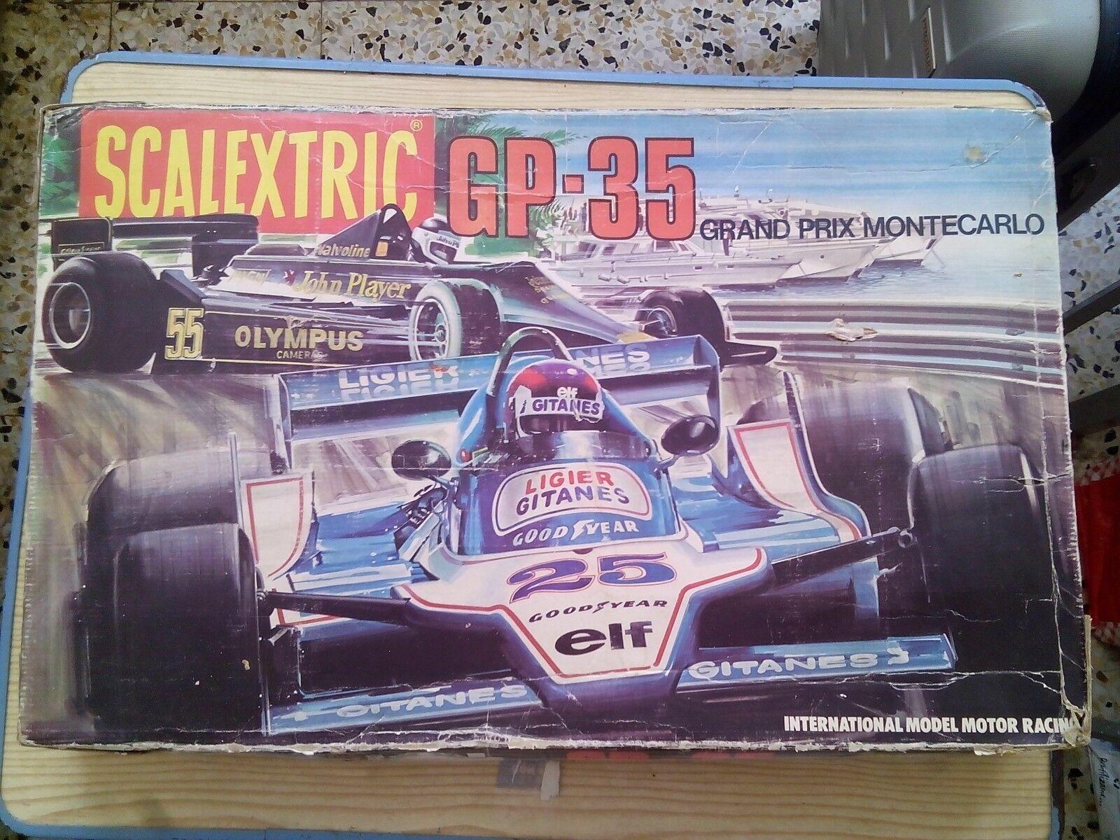 Scalextric GP-35 Grand Prix Montecarlo Con Dos Coches-Lotus JPS MK4 NegroLigier