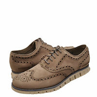 Men's Shoes Cole Haan Zerogrand Wing Oxford Suede C21924 Dune / Ivory