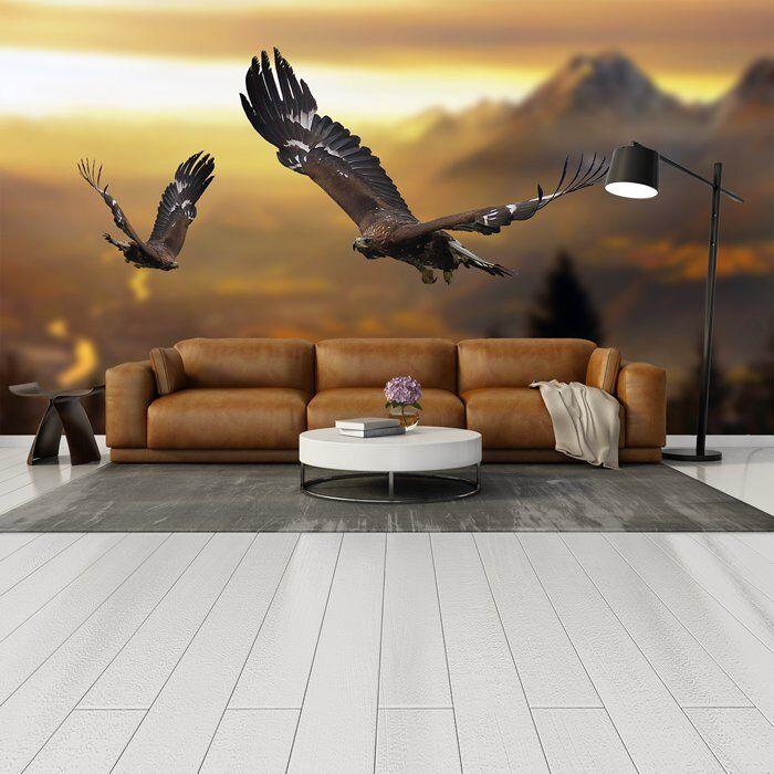 Paysage de montagne montagne de Papier Peint Photo Aigle Papier Peint Salon Chambre Décor 94cd46