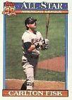 1991 Topps Carlton Fisk #393 Baseball Card