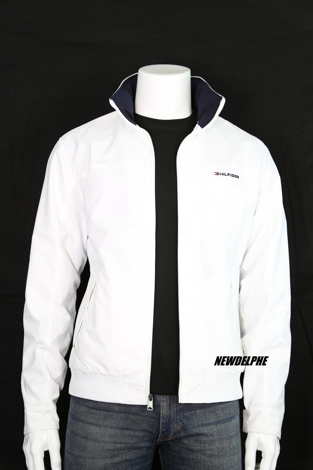 a740959e Tommy Hilfiger Mens White Yacht Outerwear Jacket Waterstop Size ...