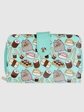 Pusheen The Facebook Cat Pusheen Sushi Mint Snap Flap Zip Wallet Gift NWT!