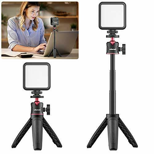 ULANZI Video Conference Lighting 1 Pack, Led Video Light with Tripod Stand &