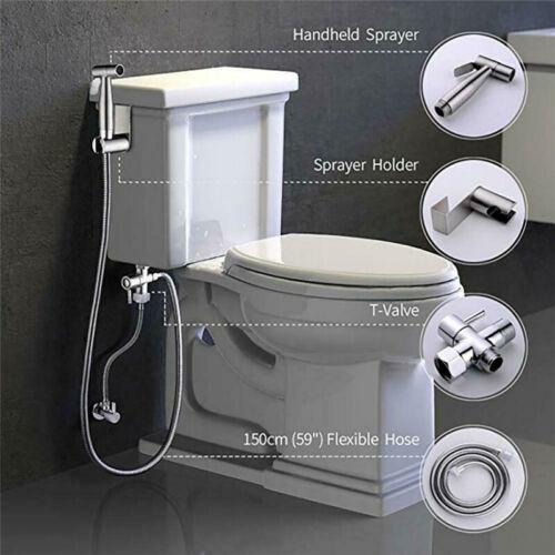 Toilet Bidet Spray Stainless Steel Handheld Shattaf Bathroom Sprayer Shower Head