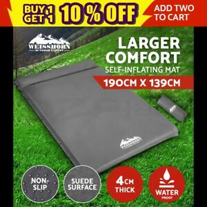 WEISSHORN-Double-Self-inflating-Mattress-Mat-Sleeping-Pad-Air-Bed-Camping-Hiking