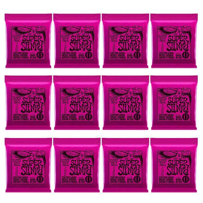 12 X SETS ERNIE BALL ELECTRIC SUPER SLINKY GUITAR STRINGS