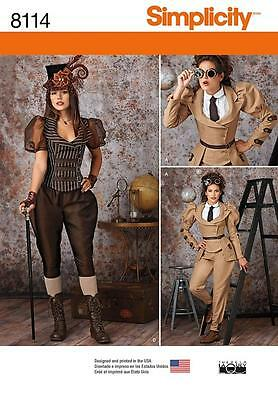 SIMPLICITY SEWING PATTERN MISSES' COSTUMES MISSES' STEAMPUNK SIZE 6-22  8114