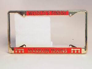 Car-license-plate-Frame-holder-USA-MARKLIN-034-Marklin-Trains-034