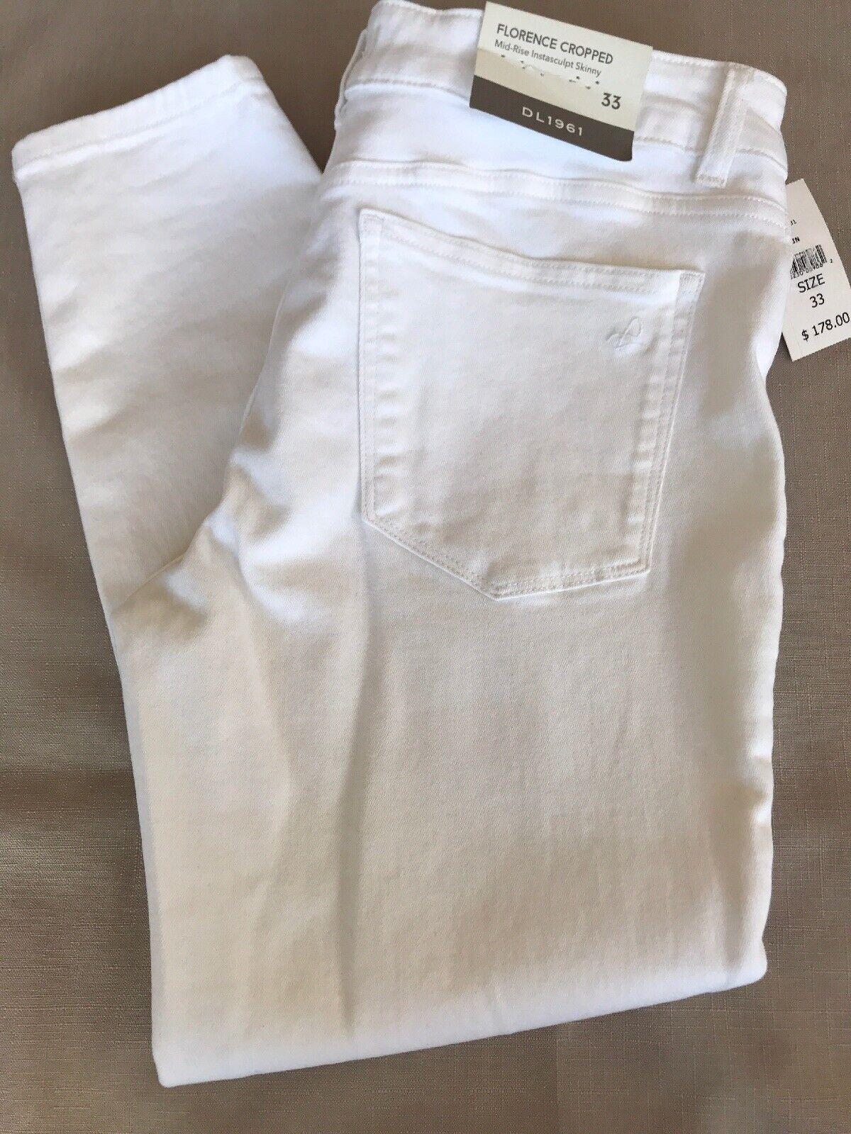DL1961'Florence 'Instabil Crop Skinny Jeans Porslin vit Storlek 33