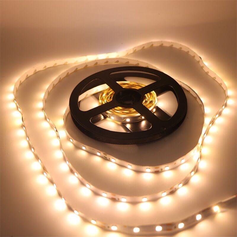 16.4ft 2835 Warm White 300 LED SMD LED Strip Light Lamp Flexible DC 12V