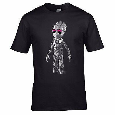 DJ Baby Groot T-Shirt - Headphones Music Galaxy Party Disco Mens Yoda Standing