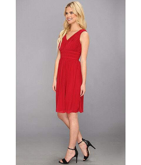 NEW damen Morgan V-Neck Rouched empire waist Dress Größe 6 or S ()