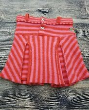 Oilily Girls (WOOL Pink Pleated Skirt Hand Embroidered Size 128 (8Y) UNIQUE KC1