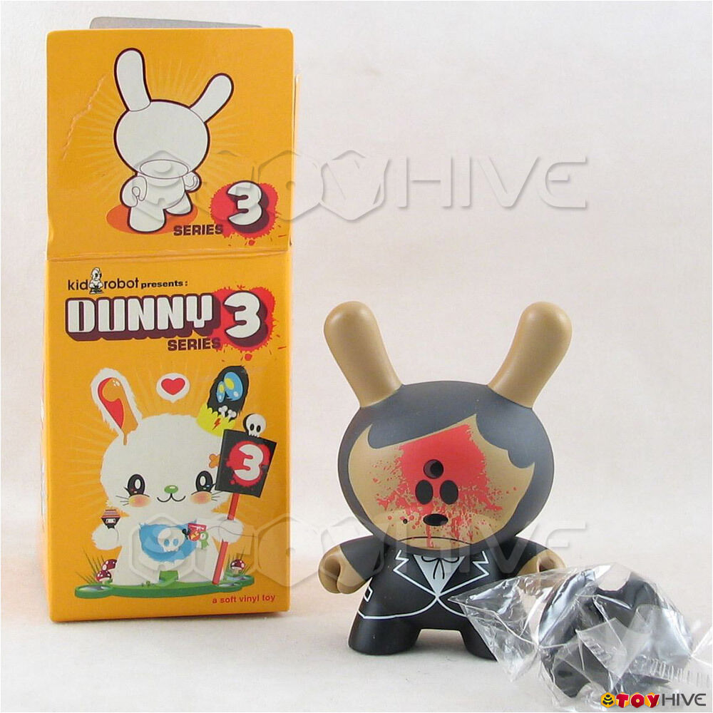 Kidrobot Dunny 2006 Series 3 Abe Lincoln Jr. 3-inch chase vinyl figure toy