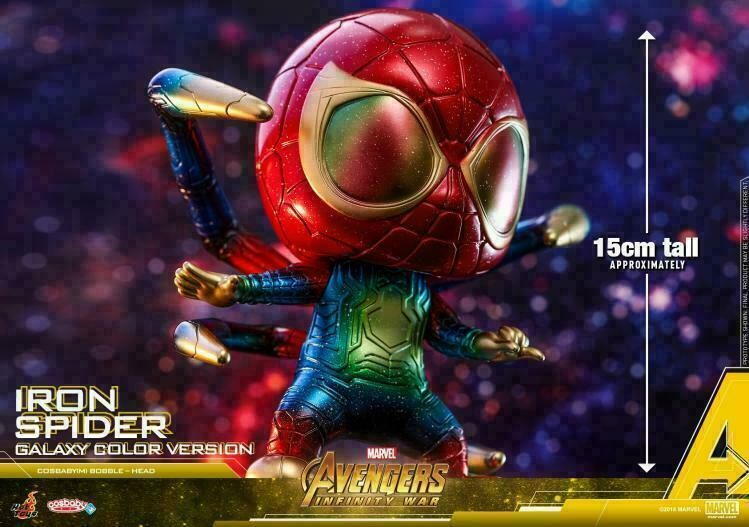 Hot Toys Iron Spider Spider Spider Avengers Galaxy color Cosbaby COSB533 Bobble-Head MINI Doll 4669f4