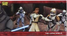 Star Wars Clone Wars Widevision Silver Stamped Parallel Base Card [500] #69